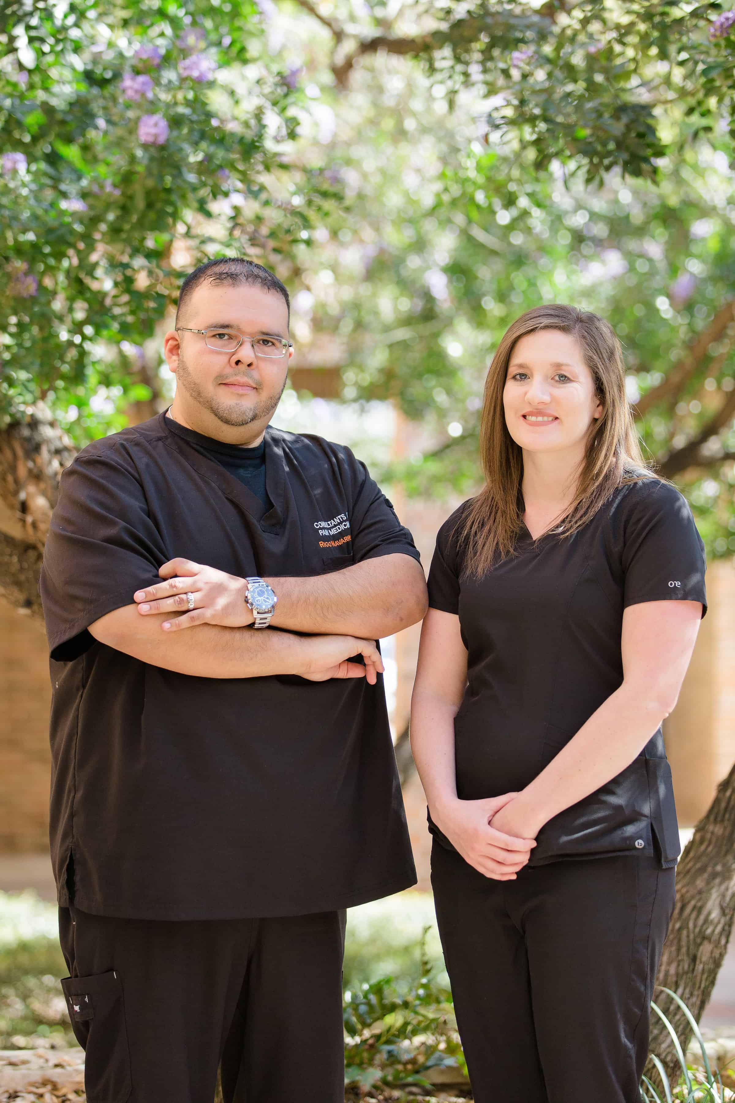 Rigoberto Navarro and Ashley Neurohr | Texas pain specialists